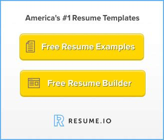 Templates resume examples by profession